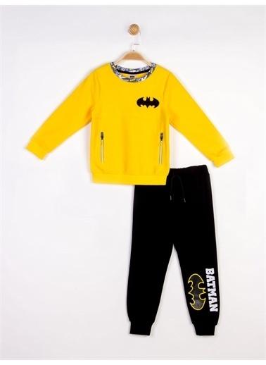 Batman Batman Lisanslı Çocuk Polar 2'li Takım 18291 Sarı